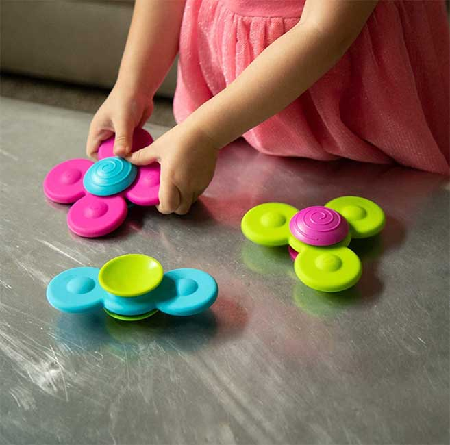 WhirlySquigz sensory toy for toddlers